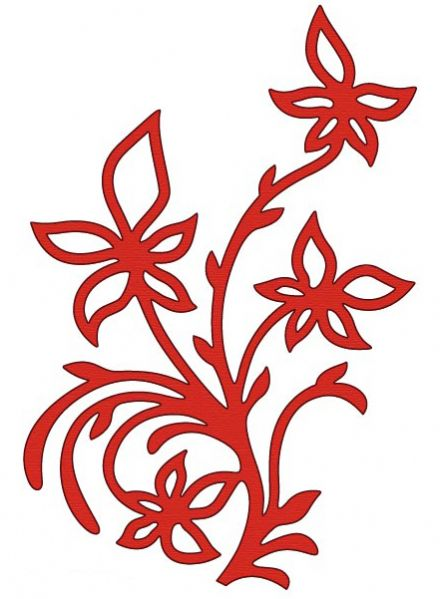 CTDI 7094 ~ RED FLOWERS ~ Crafts Too Cut and Emboss Die